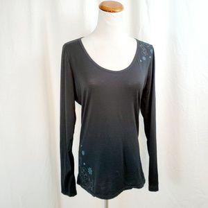 Icebreaker Womens M Merino Wool T Shirt Floral Top